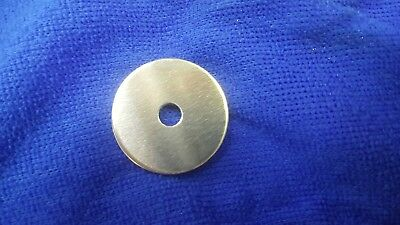 10 Aluminium Washer Type  Discs  32Mm Diameter  X  2Mm Thick With 6.35Mm Hole