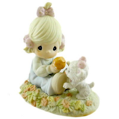 Precious Moments I'M GONNA STICK WITH YOU Porcelain Puppy 117797