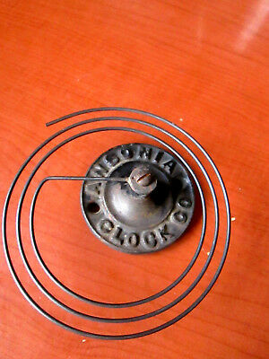 Antique Ansonia Gingerbread Kitchen Clock Gong for Parts/ Repair (285D)
