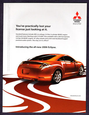 "2006 Mitsubishi Eclipse Coupe photo ""Almost Lost Your License Just Looking"" Ad"
