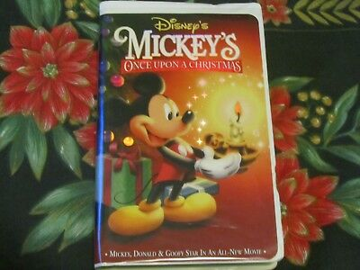 walt disneysmickeys once upon a christmasvhs videotested vg - Mickeys Once Upon A Christmas Vhs