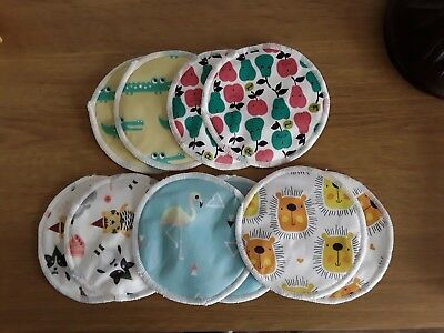 NEW Reusable Bamboo Breast Pads Set of 10 (5 pairs) Feeding Baby