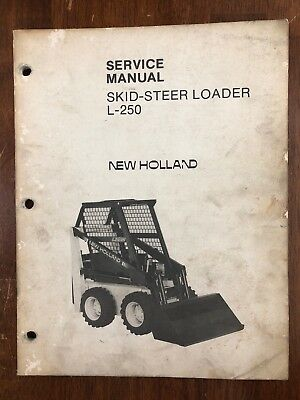 NEW HOLLAND L250 Skid Steer Loader Onan B43G Engine Service Repair on