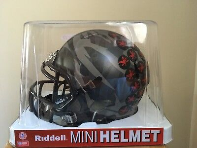 527467fb OHIO STATE BUCKEYES Chrome Alternate Speed Mini Helmet Riddell Brand ...