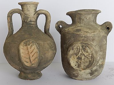 Biblical Ancient Antique Holy Land Roman Herodian Pottery Clay Wine Jugs Pitcher