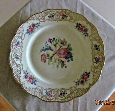 "Rare Royal Bayreuth ~ The Rosalie ~ 8"" Salad or Luncheon Plate ~ Bavaria Germany"