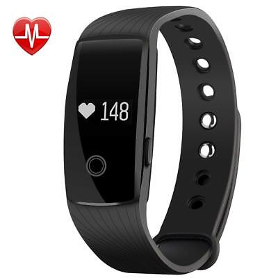 Fitness Armband mit Pulsmesser Smart Fitness Tracker Bluetooth 4.0 iOS Android