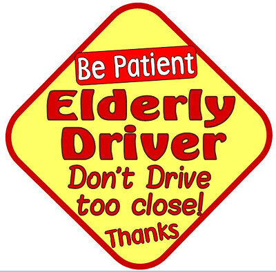 Elderly Driver, don't drive too close (on board Safety Car sign)