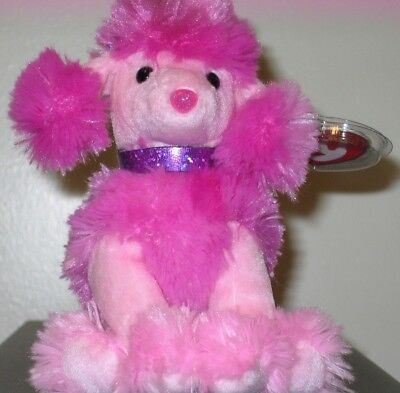 Ty Beanie Baby ~ OOH-LA-LA the Pink Poodle Dog ~ MINT with MINT TAGS