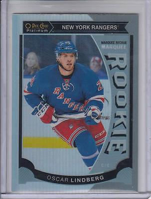 15/16 OPC Platinum New York Rangers Oscar Lindberg Rainbow Rookie RC card #M34