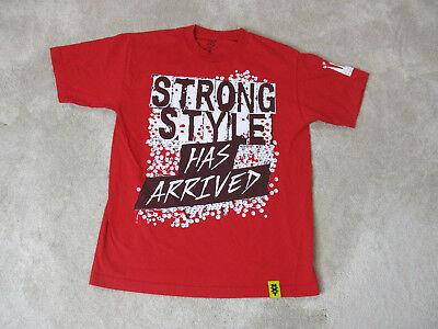 WWE NXT Nakamura Shirt Adult Medium Red White WWF Wrestler Wrestling Mens