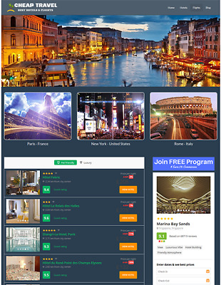 HOTELS AND FLIGHTS - Automated Travel Website - 100% Autopilot & Newbie Friendly