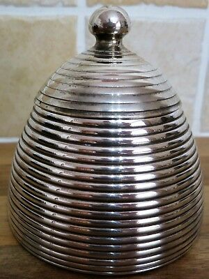 Unusual (Art Deco Silver Plate?) Skep Beehive Sugar Bowl