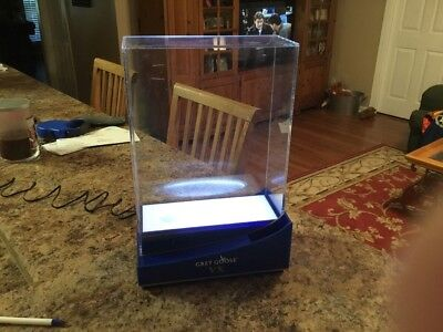 Grey Goose VX Vodka Lighted/ Locking Acrylic Display Cabinet NIB Free Shipping