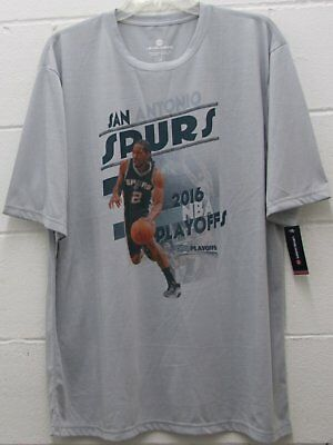 Men s San Antonio Spurs NBA Tee T Shirt 2016 Playoffs Gray Size L Large New 95da3605f