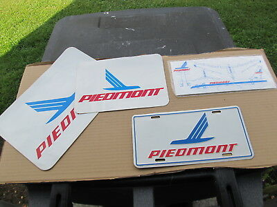 Piedmont Airlines N76IN Toy Plane, License Plate, Small & Large Decal Stickers