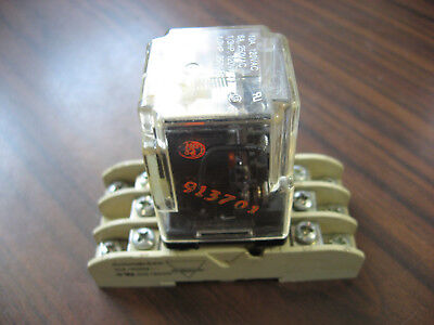 Dayton 3X742E Cube Relay With Base  (11 Pin Round, 120 VAC Coil )