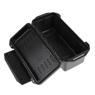 Waterproof Shockproof Outdoor Survival Container Storage Case Dry Box Black