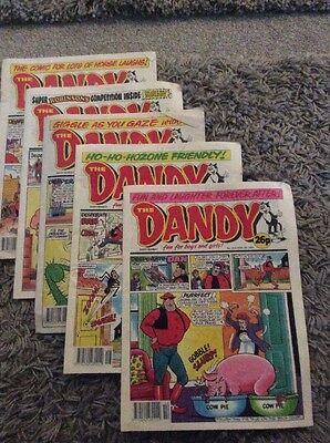 Five The Dandy Comics From 1991 Nos 2576, 2578, 2585, 2587 & 2589