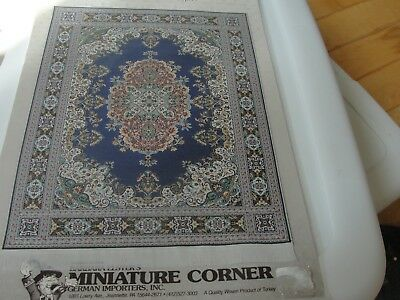 "Dollhouse Miniature Woven TABAN CARPET  by Miniature Corner NRFP 8"" by 10 3/4"""