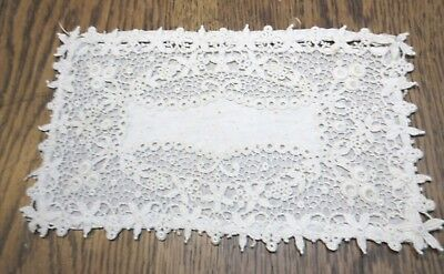 Lovely Antique Schiffli Maxhine   Lace Slip Case Late 1800'S