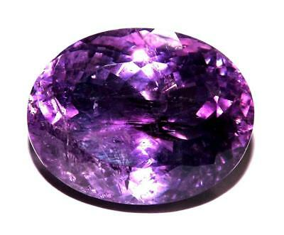 58 cts Natural Earth Mined VSI1 Qlty Amethyst 27 x 21 mm Gemstone eam1921