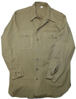 """Original US WWII Army Wool """"Special"""" Combat Shirt Size 15 1/2"""" x 32 Dated 1945"""