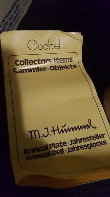 M J Hummel Annual Bell 1979 Second Edition In Original Box Goebel Germany