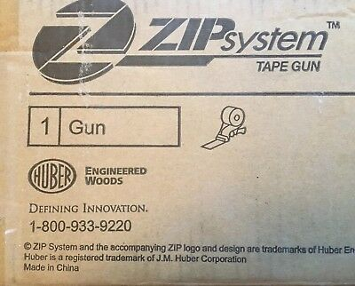 Zip System Tape Gun Brand New Never Used Huber New In Box!