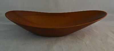 Vintage Teak Mid Century Danish Modern Curved Long Bowl - Patent Number 153115