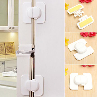 Kid Child Useful Safety Door Lock Proof Cupboard Fridge Cabinet Prevent Clamping