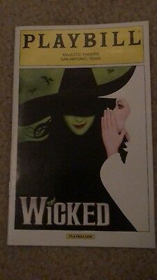 Wicked National Tour Playbill