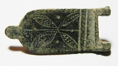 ZURQIEH -as7340- ANCIENT HOLY LAND, ROMAN BRONZE BELT BUCKLE. 300 - 400 A.D