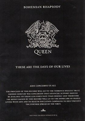 Queen -  Music Advert For The Bohemian Rhapsody / Days Of Our Lives Charity