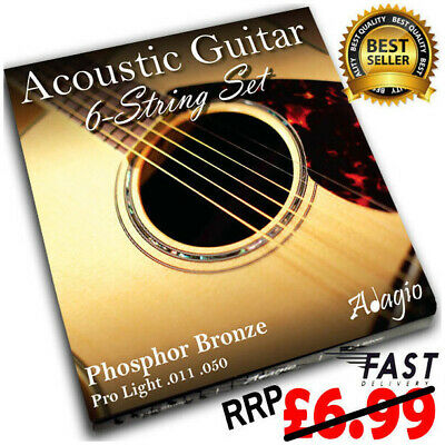 Adagio Pro ACOUSTIC GUITAR Strings Set Light 11-50 - 11s Phosphor Bronze Pack