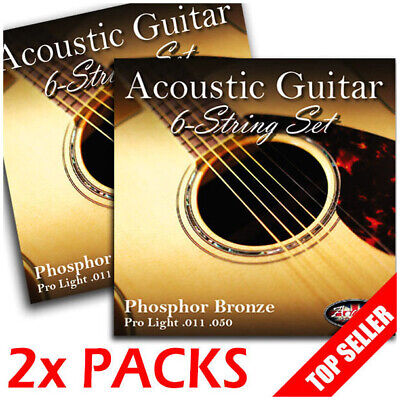2 PACKS! - Adagio Pro Finest ACOUSTIC GUITAR Strings Light 11-50 - 2x Full Set