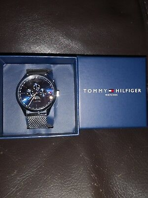 701d37f8823f2 Brand New Tommy Hilfiger Mens Oliver Stainless Steel Mesh 1791302 Watch