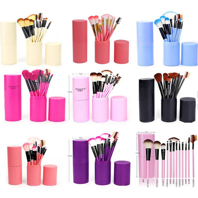 12Pcs/Set Makeup Brushes for Foundation Eyeshadow Eyebrow Eyeliner Blush Powder