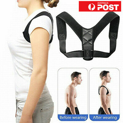 Adult Kid Posture Corrector Support Magnetic Back Shoulder Brace Belt Adjustable