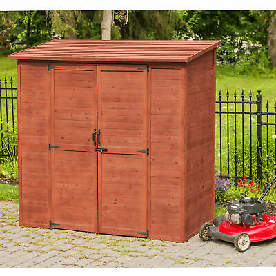 Leisure Season 6 ft. 3 in. W x 3 ft. 1 in. D Wooden Lean-To Tool Shed