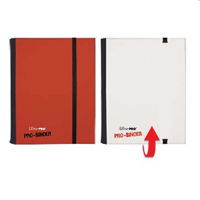 Ultra Pro 4 Pocket FLIP PRO BINDER RED/WHITE 20 Pages 160 Gaming/Trading Cards