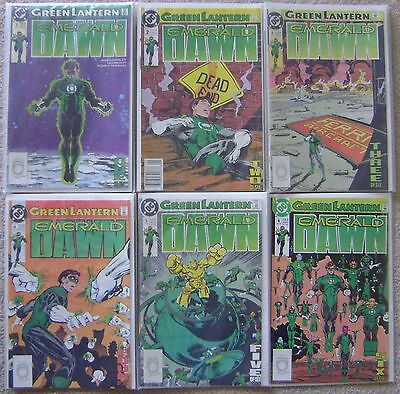 Green Lantern Emerald Dawn #1-6 Dc Comics Copper Age 1989 Nm Unread Complete Set