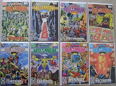 Millennium #1-8 Dc Comics (8) Comic Complete Set 1987 Vf To Nm Unread Superman +