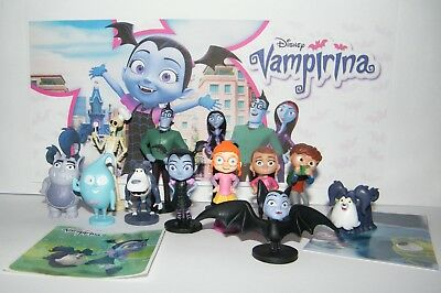 Disney Vampirina  Figure Set of 14  with 12 Figures and 2 Fun Stickers