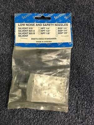 """Silvent 920A Blow Gun Flat Nozzle, NPT 1/4"""" ** New!!! ** 2 Available !!! **"""