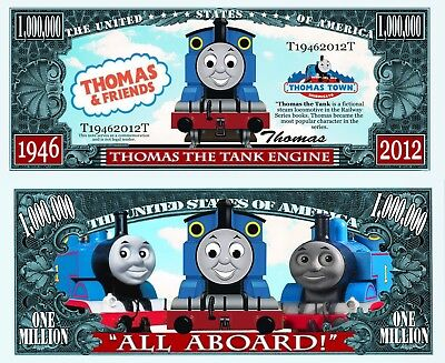 Thomas the Train Novelty Dollar Bill w Semi Rigid Protector and Free shipping