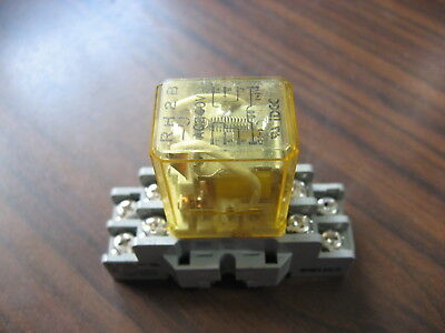 Idec RH2B-U Cube Relay With SH2B-05 Base  (8 Pin Square, 240 VAC Coil)