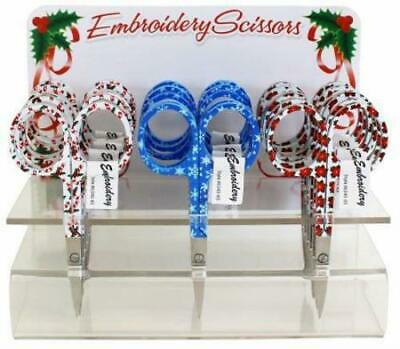 """Assorted Holiday Embroidery Scissors #6340-85, Sewing & Quilting Thread, 3.75"""""""