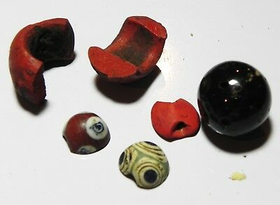 Zurqieh - As7388- Ancient Egypt, Lot Of Glass Items. 1400 B.c - 200 A.d