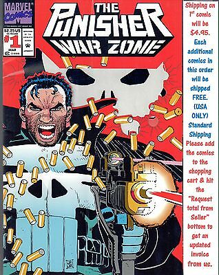 The Punisher War Zone.#1 Mar 1992 Comics.BR 74936-11 BR5